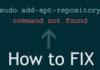 add-apt-repository Command not Found