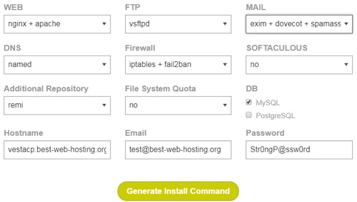 VestaCP Install Script